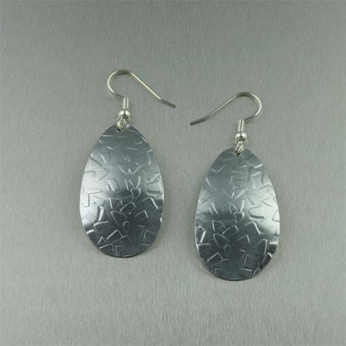 Embossed Triangle Aluminum Earrings - johnsbrana
