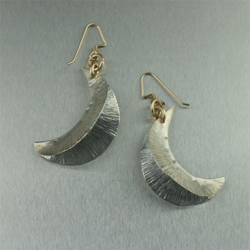 Fine Silver Fold Formed Earrings - johnsbrana