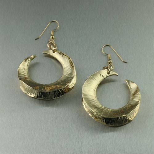 Gold Fold Formed Earrings - johnsbrana