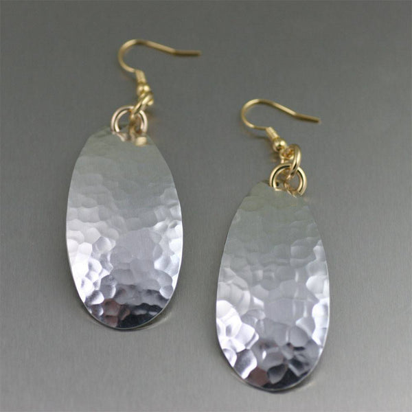 Hammered Aluminum Tear Drop Earrings - johnsbrana