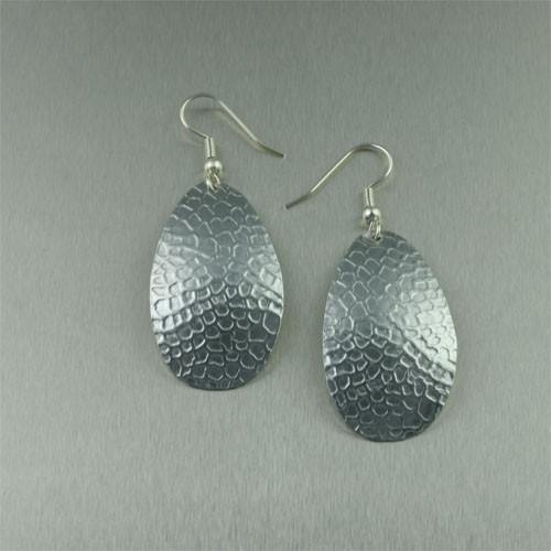 Honeycomb Embossed Aluminum Earrings - johnsbrana