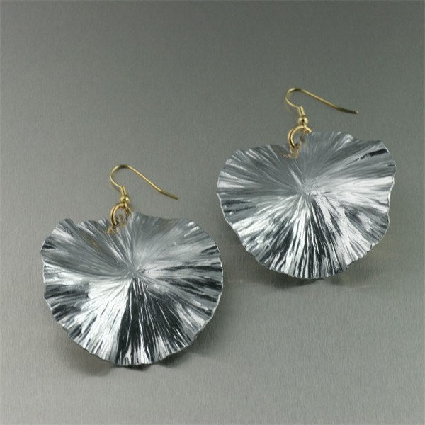 Large Aluminum Lily Pad Earrings - johnsbrana