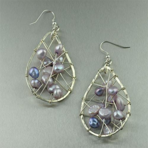Lavender Freshwater Pearl Earrings - johnsbrana
