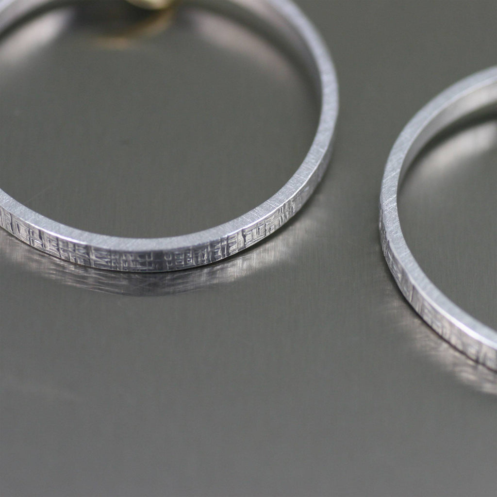 Linen Aluminum Hoop Earrings - johnsbrana - 2
