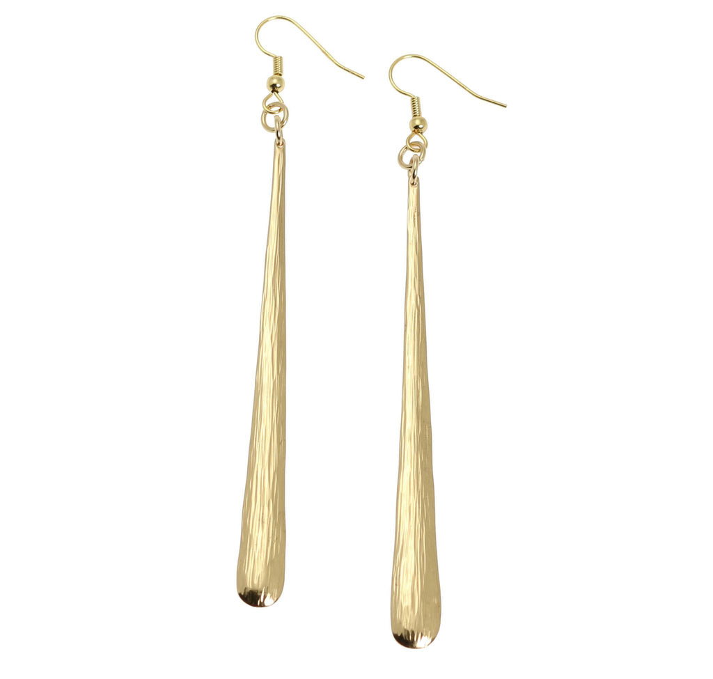 Nu Gold Bark Earrings - johnsbrana - 1
