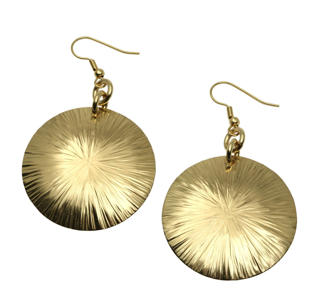 Nu Gold Brass Sand Dollar Earrings - johnsbrana - 2