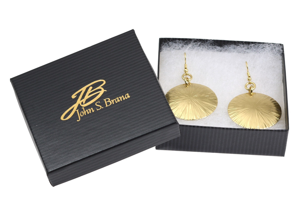Nu Gold Brass Sand Dollar Earrings - johnsbrana - 4