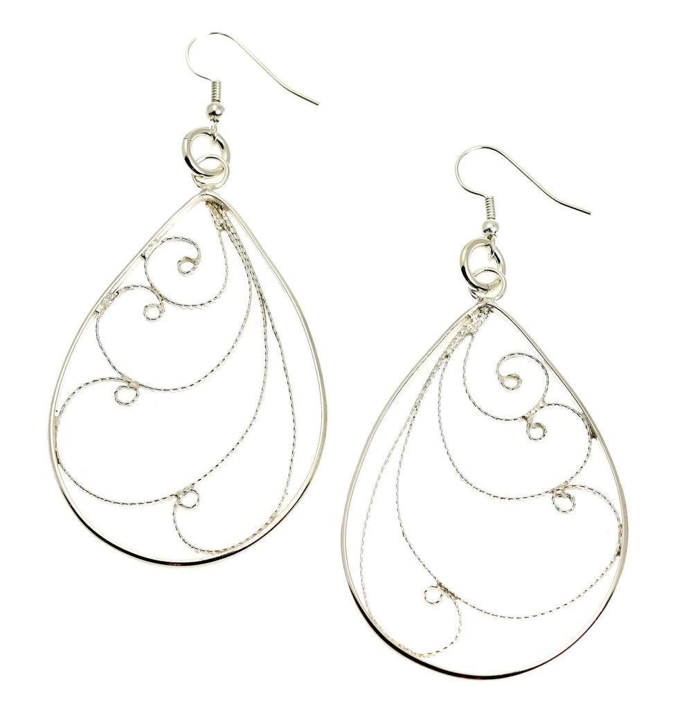 Sterling Silver Filigree Scroll Earrings - johnsbrana - 1