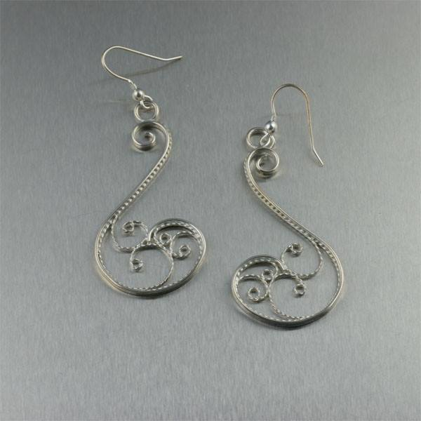 Sterling Silver Filigree Scroll Earrings - johnsbrana
