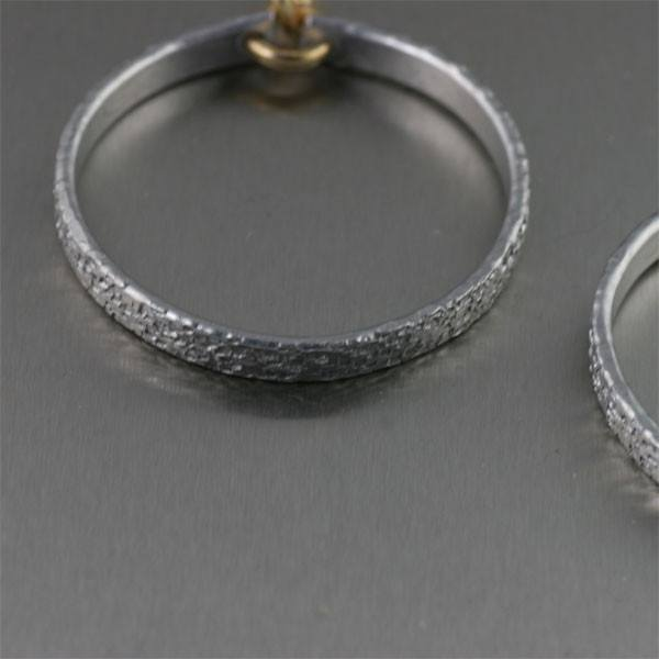 Earrings - Texturized Aluminum Hoop Earrings - Small