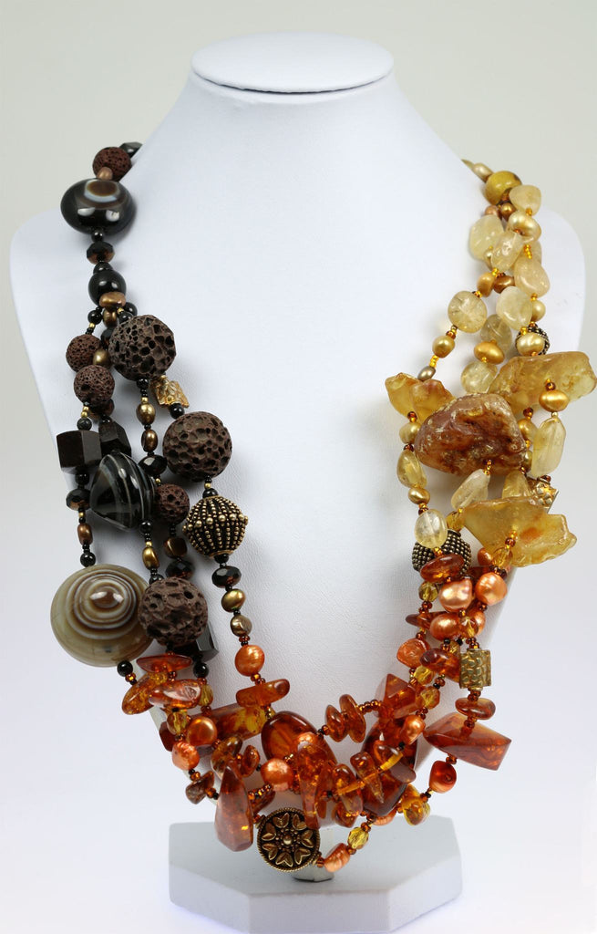 Baltic and Dominican Amber Necklace - johnsbrana - 1