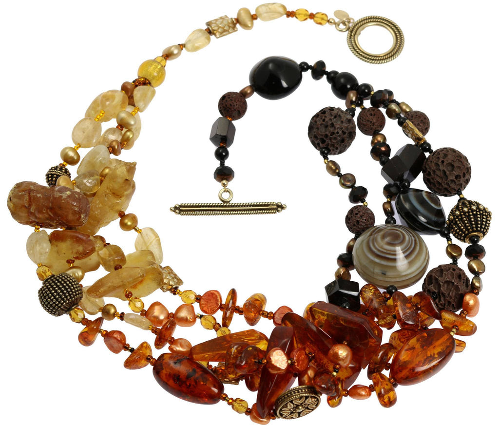 Baltic and Dominican Amber Necklace - johnsbrana - 2