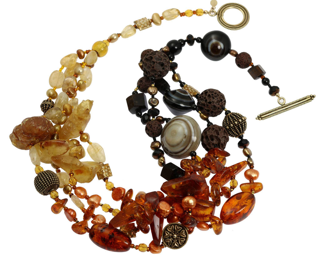 Baltic and Dominican Amber Necklace - johnsbrana - 3