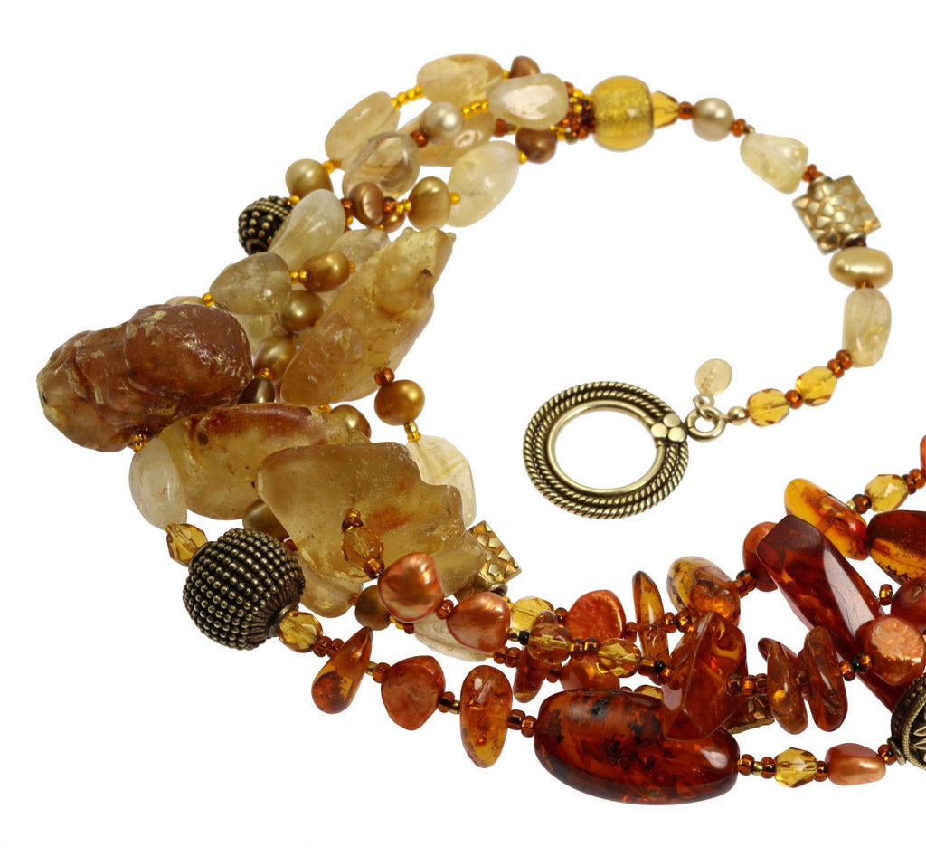 Baltic and Dominican Amber Necklace - johnsbrana - 4