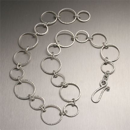 Chased Fine Silver Necklace - johnsbrana