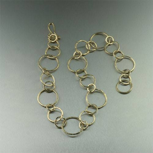 Necklaces - Gold Hammered Hoop Necklace