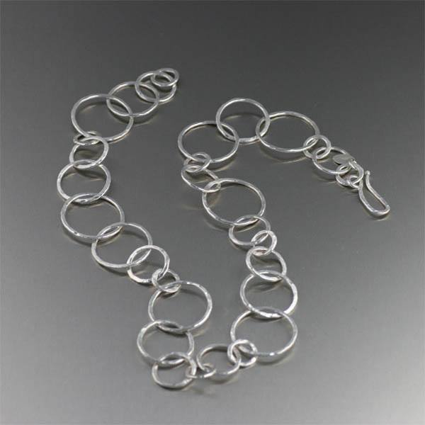 Hammered Fine Silver Necklace - johnsbrana