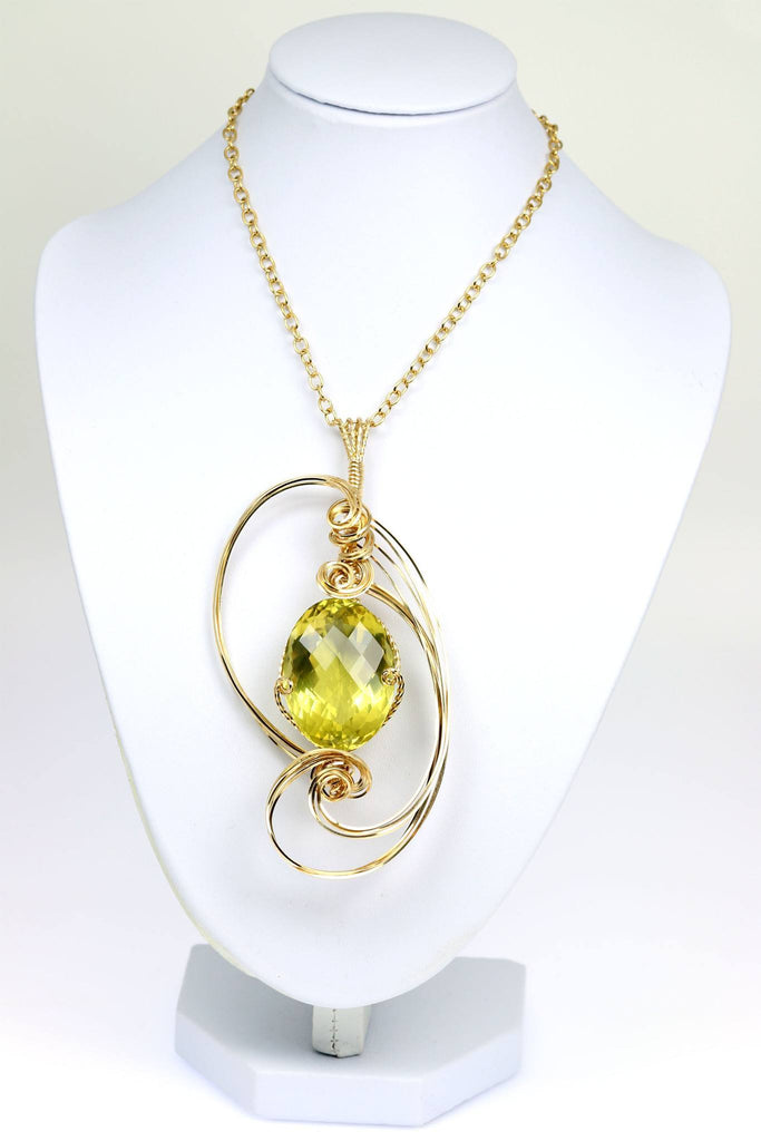 102.5 CT Green Gold Quartz 14K Gold-filled Pendant - johnsbrana - 1