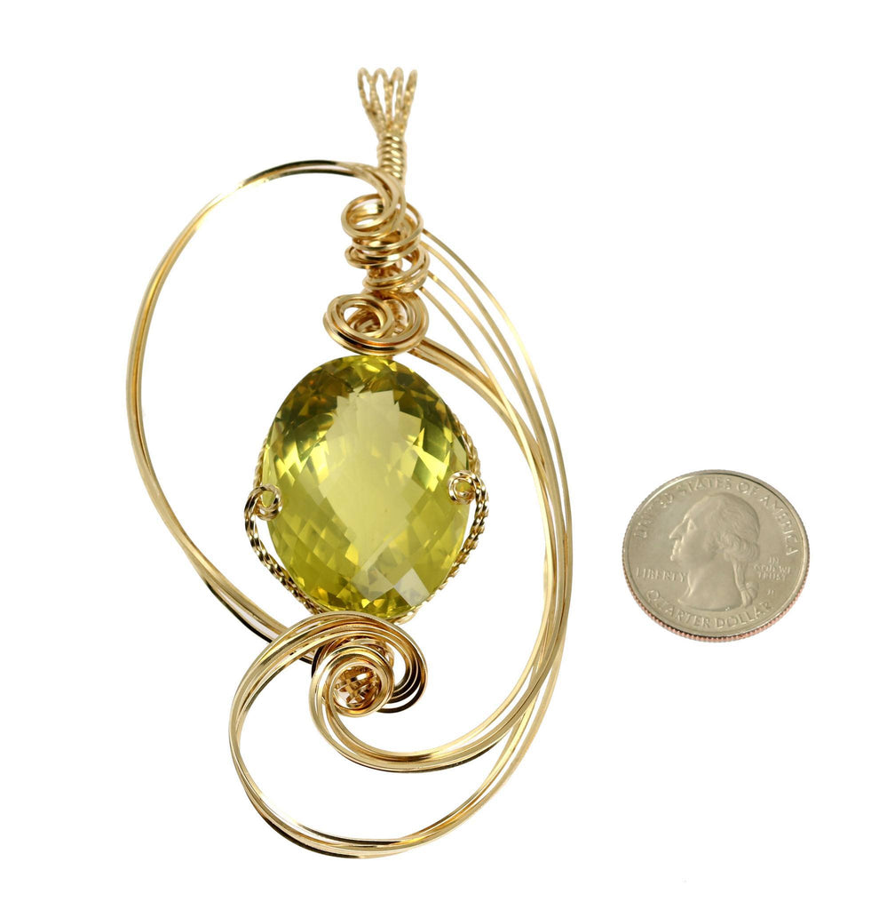 102.5 CT Green Gold Quartz 14K Gold-filled Pendant - johnsbrana - 2