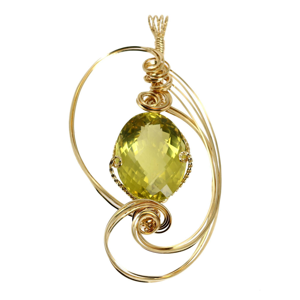 102.5 CT Green Gold Quartz 14K Gold-filled Pendant - johnsbrana - 3