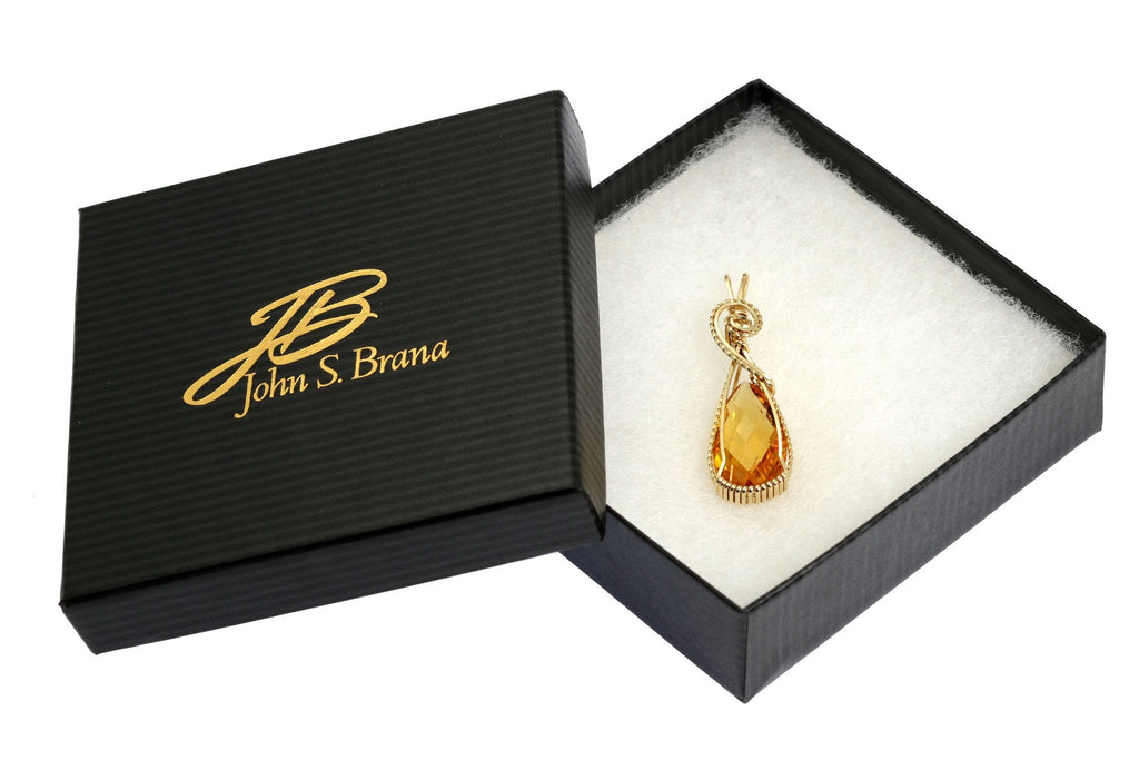 Pendants - 22 CT Citrine 14K Gold-filled Wire Wrapped Pendant