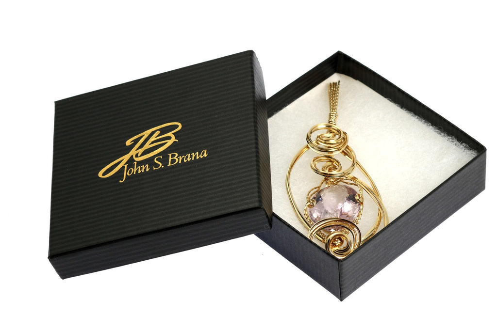 42 CT Cushion Cut Amethyst 14K Gold-filled Wire Wrapped Pendant - johnsbrana - 4
