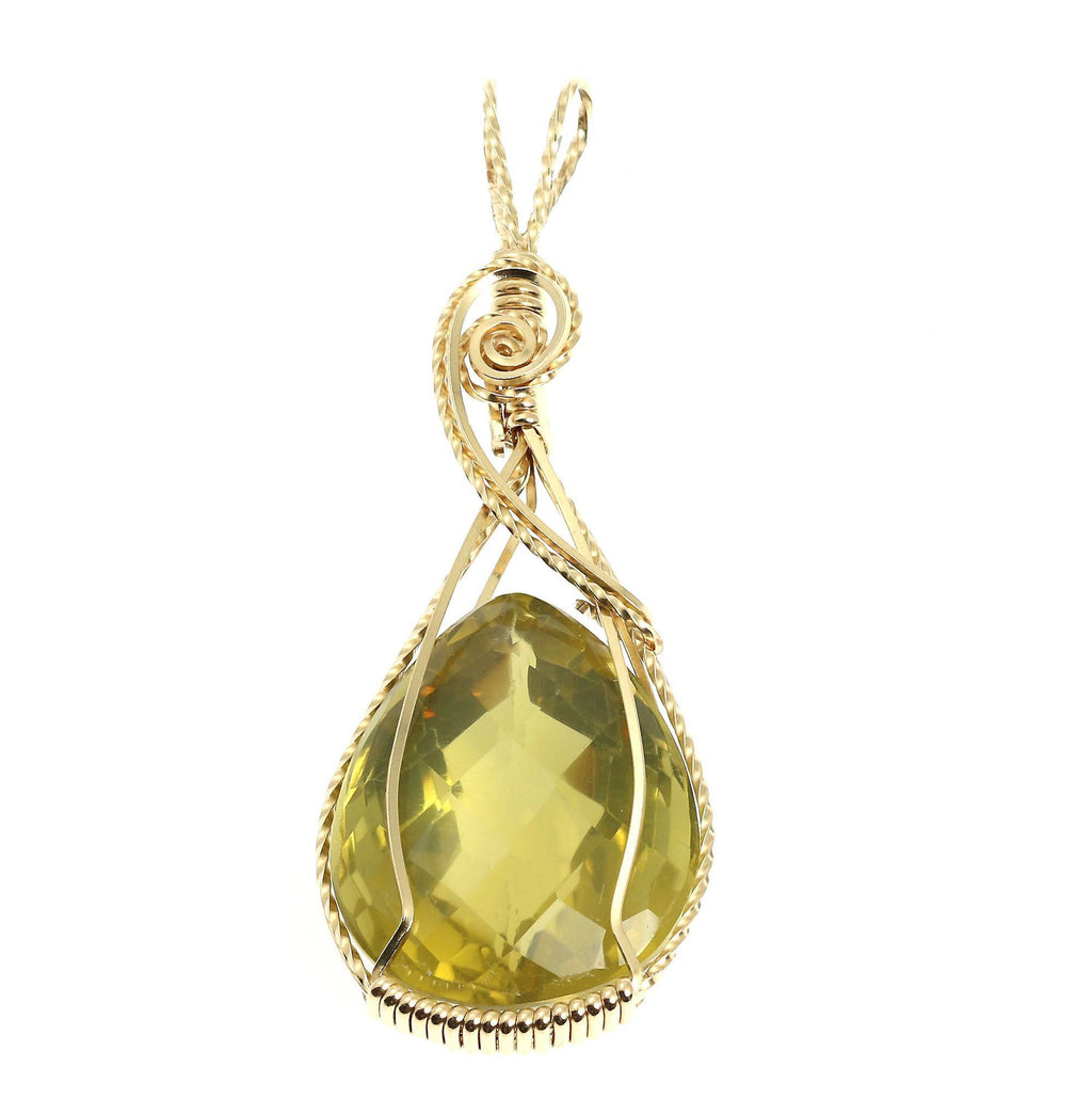 65 CT Green Gold Quartz 14K Gold-filled Pendant - johnsbrana - 1