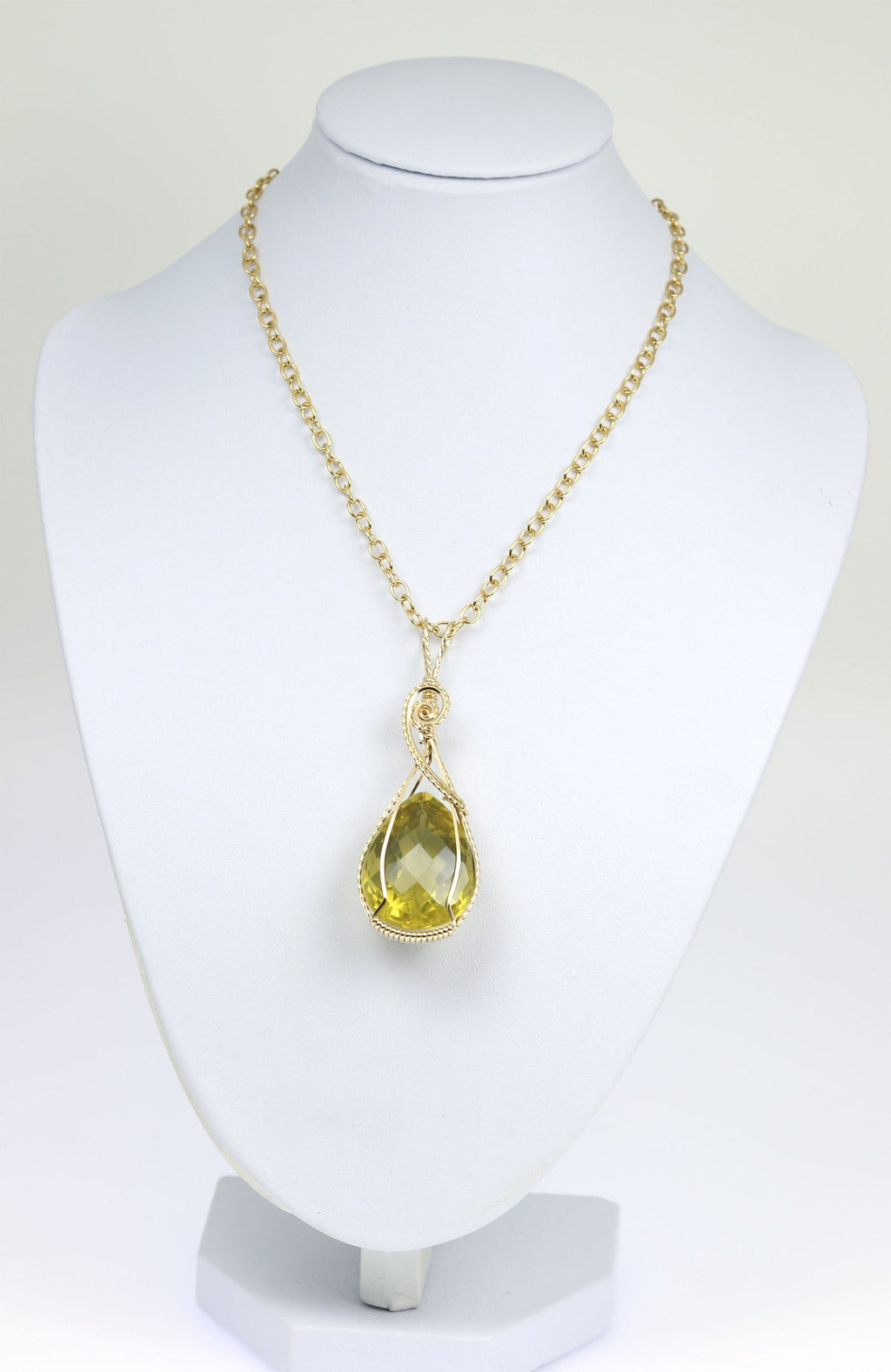 65 CT Green Gold Quartz 14K Gold-filled Pendant - johnsbrana - 3