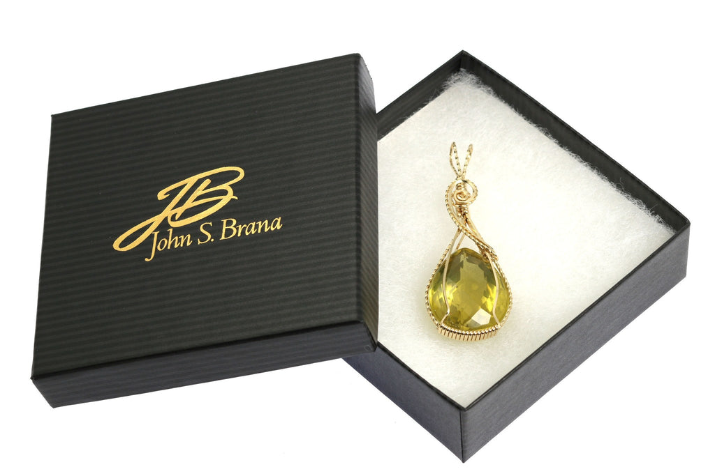 65 CT Green Gold Quartz 14K Gold-filled Pendant - johnsbrana - 4