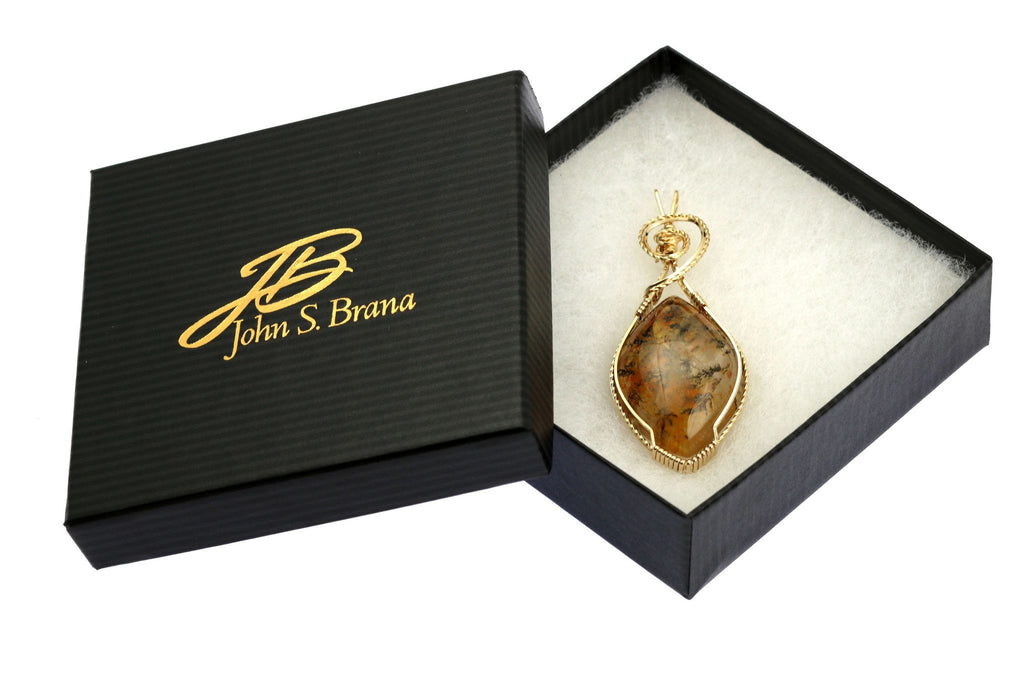 75 CT Dendritic Quartz 14K Gold-Filled Wire Wrapped Pendant - johnsbrana - 4