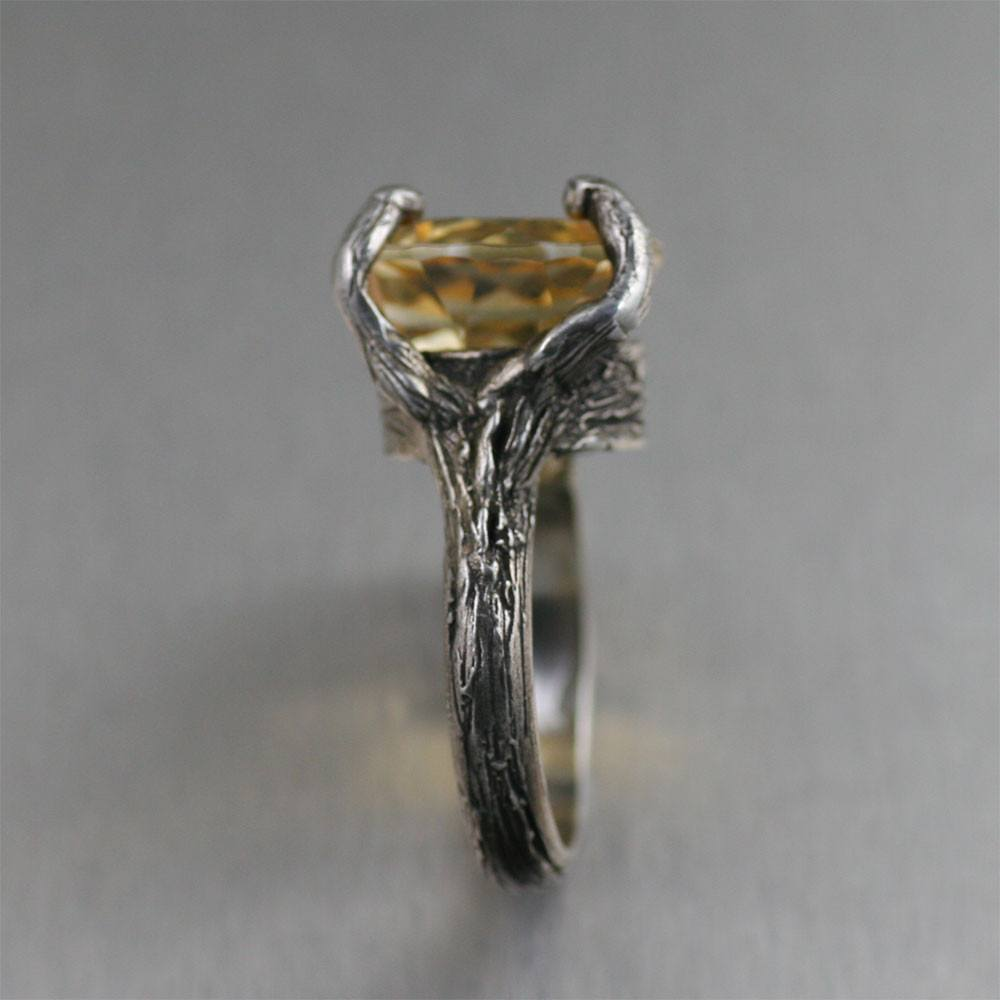 13 ct Citrine Sterling Silver Tree Branch Cocktail Ring - johnsbrana - 2