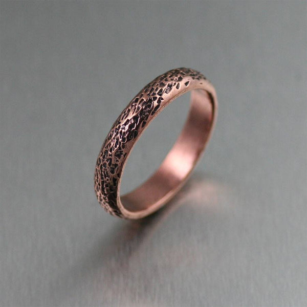 4mm Texturized Copper Band Ring - johnsbrana