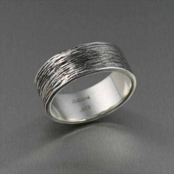 8mm Oxidized Sterling Silver Men's Ring - johnsbrana