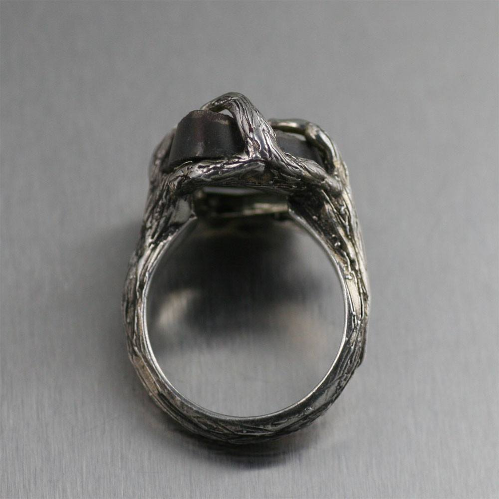 9 CT Pyrite Sterling Silver Tree Branch Ring - johnsbrana - 2