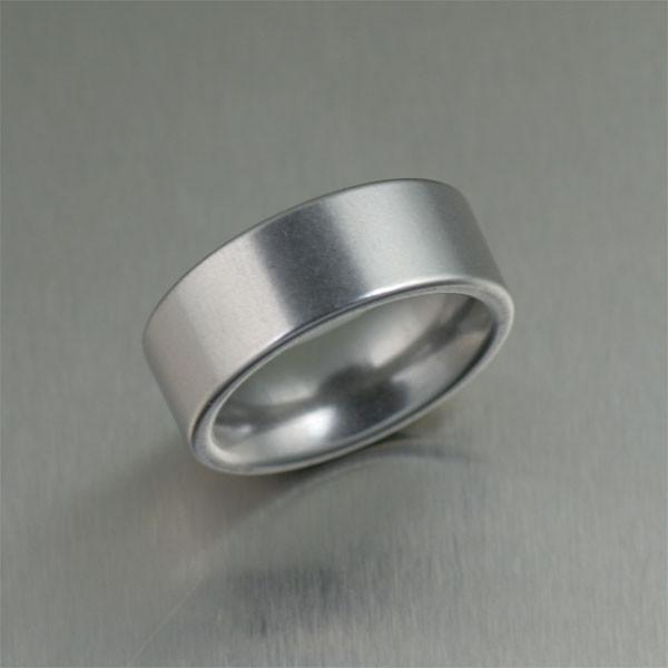 9mm Matte Stainless Steel Men's Ring - johnsbrana