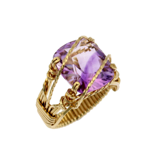 Amethyst 14K Gold-filled Cocktail Ring - johnsbrana - 1