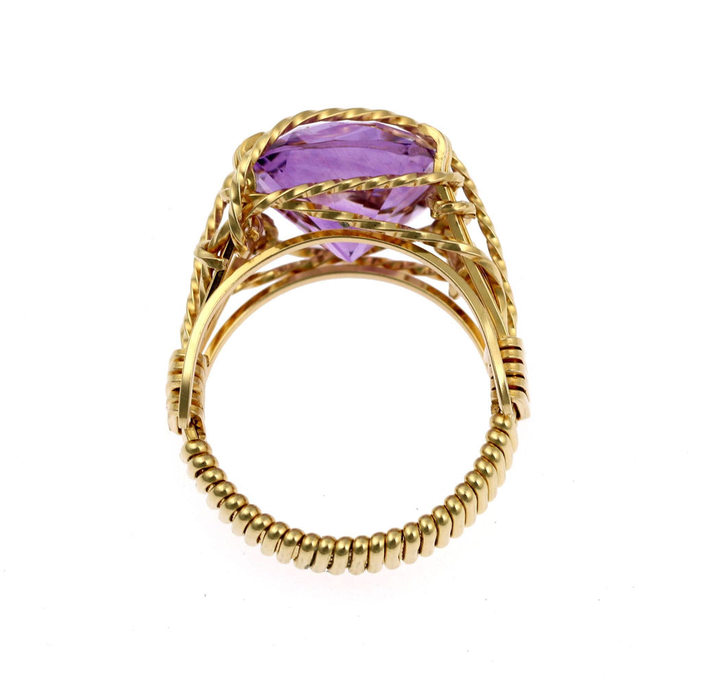 Amethyst 14K Gold-filled Cocktail Ring - johnsbrana - 2