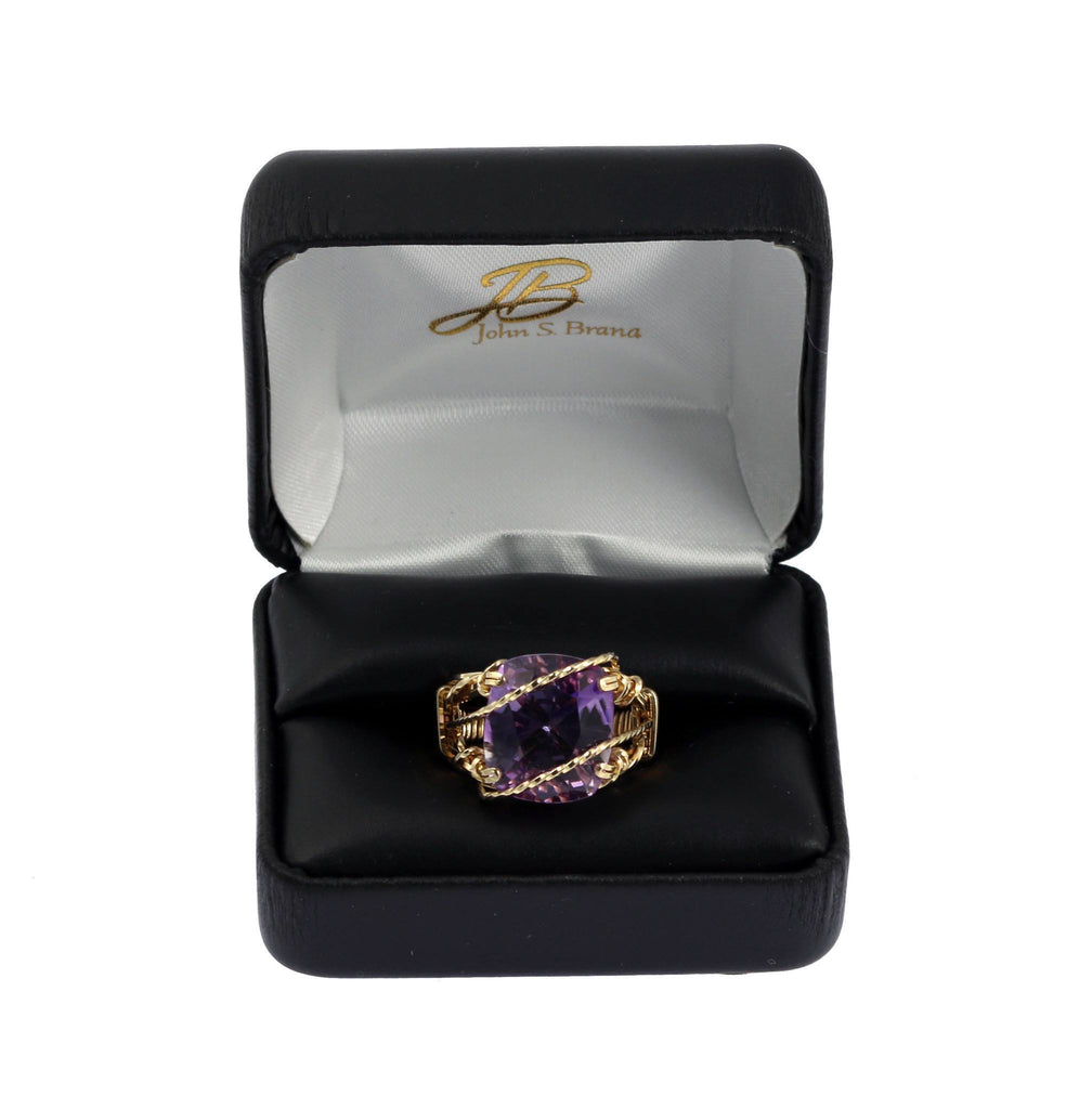 Amethyst 14K Gold-filled Cocktail Ring - johnsbrana - 5