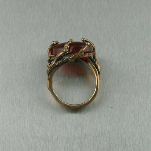 Carnelian Redwood Bronze Ring - johnsbrana - 2