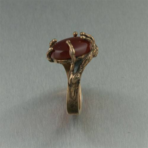 Rings - Carnelian Redwood Bronze Ring