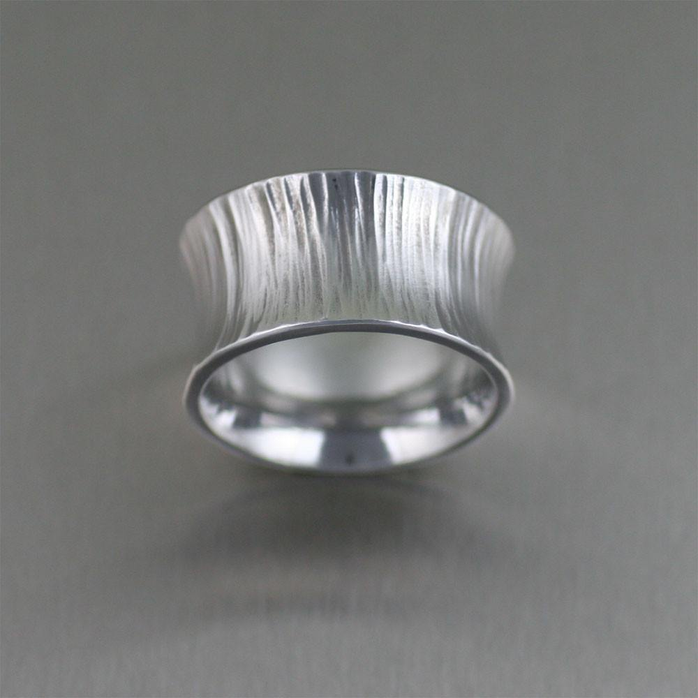 Chased Anticlastic Aluminum Band Ring - johnsbrana - 1