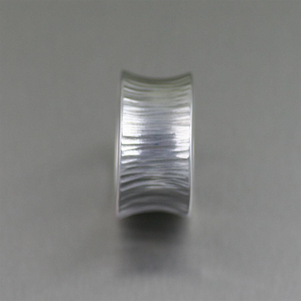 Chased Anticlastic Aluminum Band Ring - johnsbrana - 2