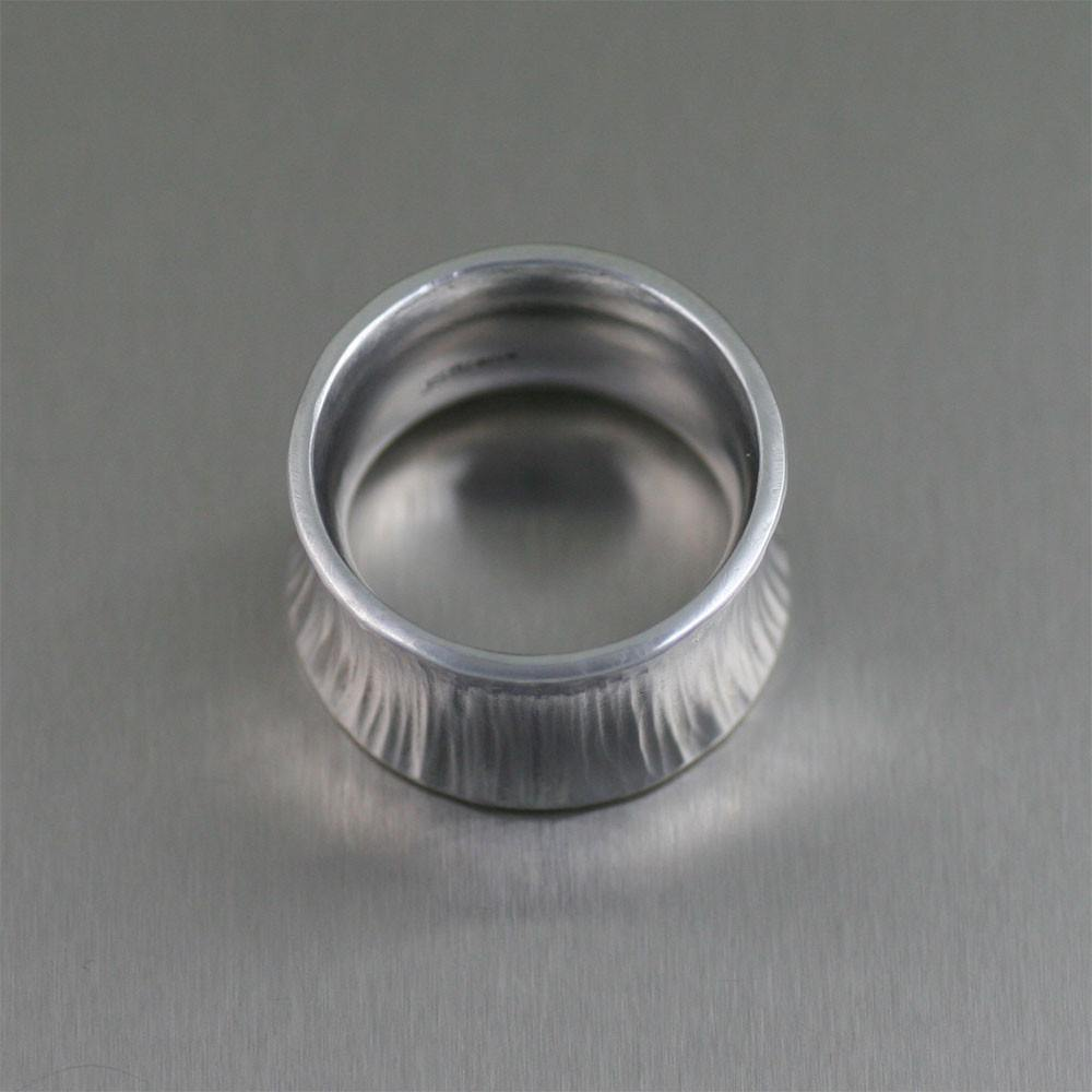 Chased Anticlastic Aluminum Band Ring - johnsbrana - 3