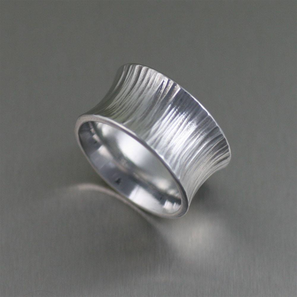Chased Anticlastic Aluminum Band Ring - johnsbrana - 4