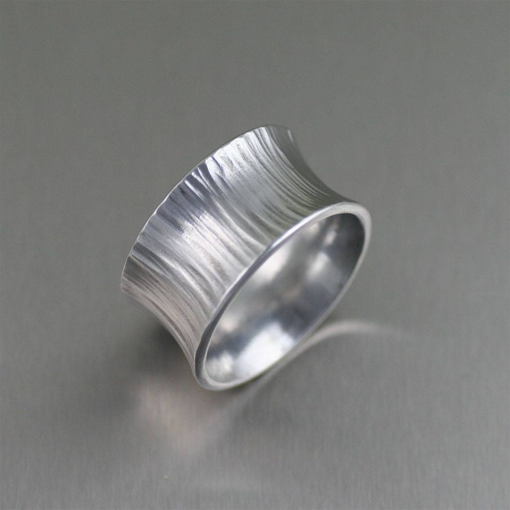 Chased Anticlastic Aluminum Band Ring - johnsbrana - 5