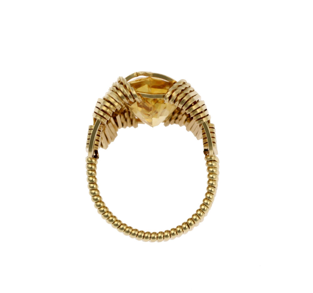 Citrine 14K Gold-filled Cocktail Ring - Marquise Cut - Large - johnsbrana - 4