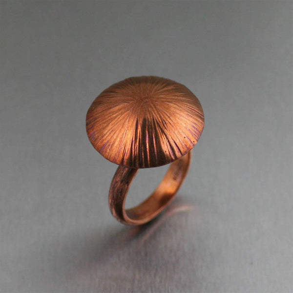 Copper Portobello Mushroom Ring - johnsbrana - 1