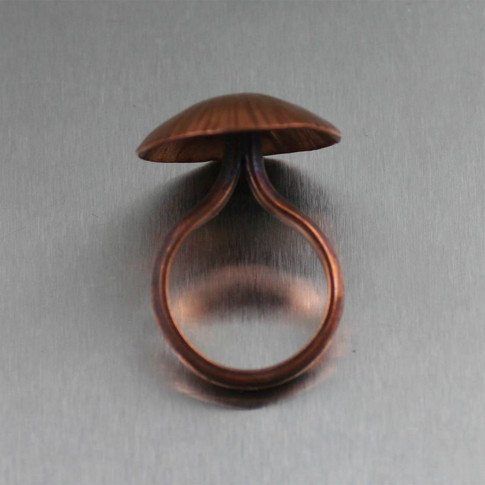 Copper Portobello Mushroom Ring - johnsbrana - 2