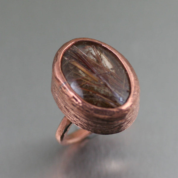 Rings - Copper Rutilated Quartz Cocktail Ring