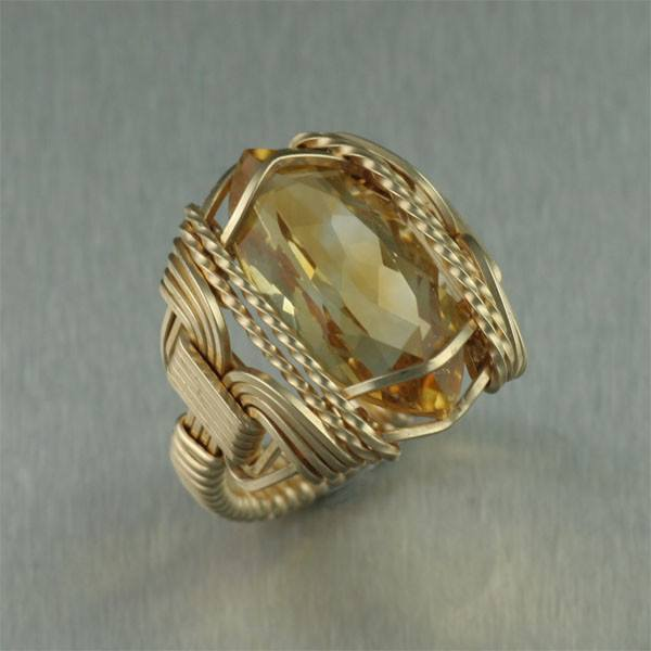 Marquise Cut Citrine 14K Gold-filled Cocktail Ring - johnsbrana - 1